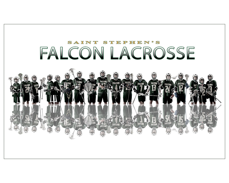 Creative sports team composite portraits St. Stephen's Lacrosse