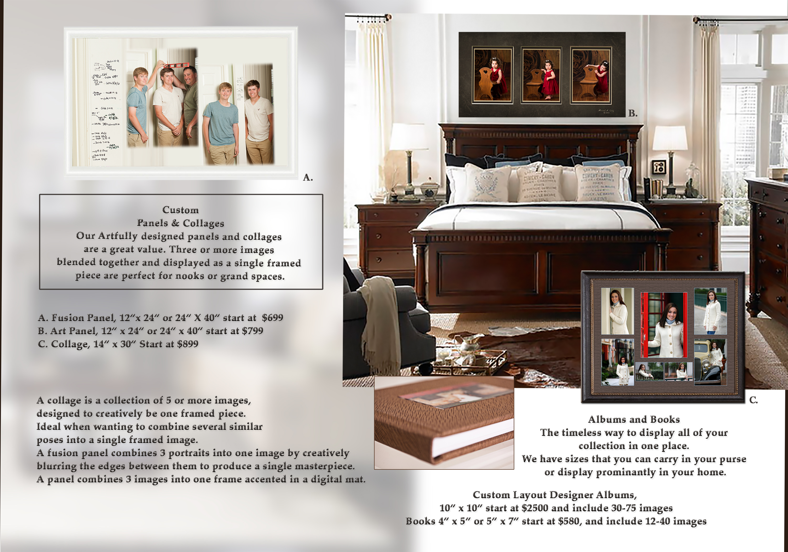 Portrait Guide Custom wall Portrait panels and collages!