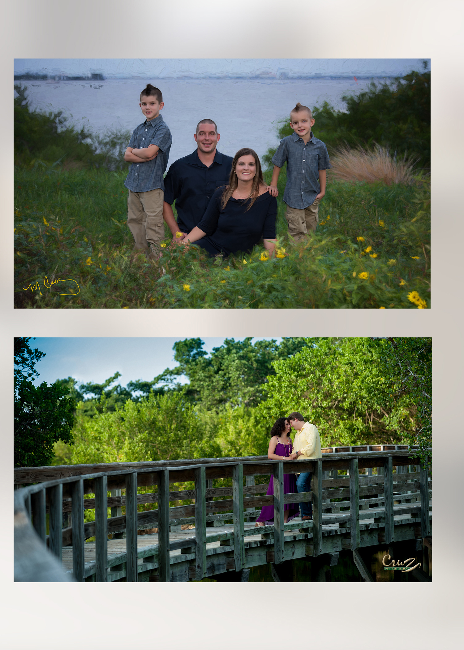 Family Portraits on location, Robinson Preserve, Emerson Point Preserve,