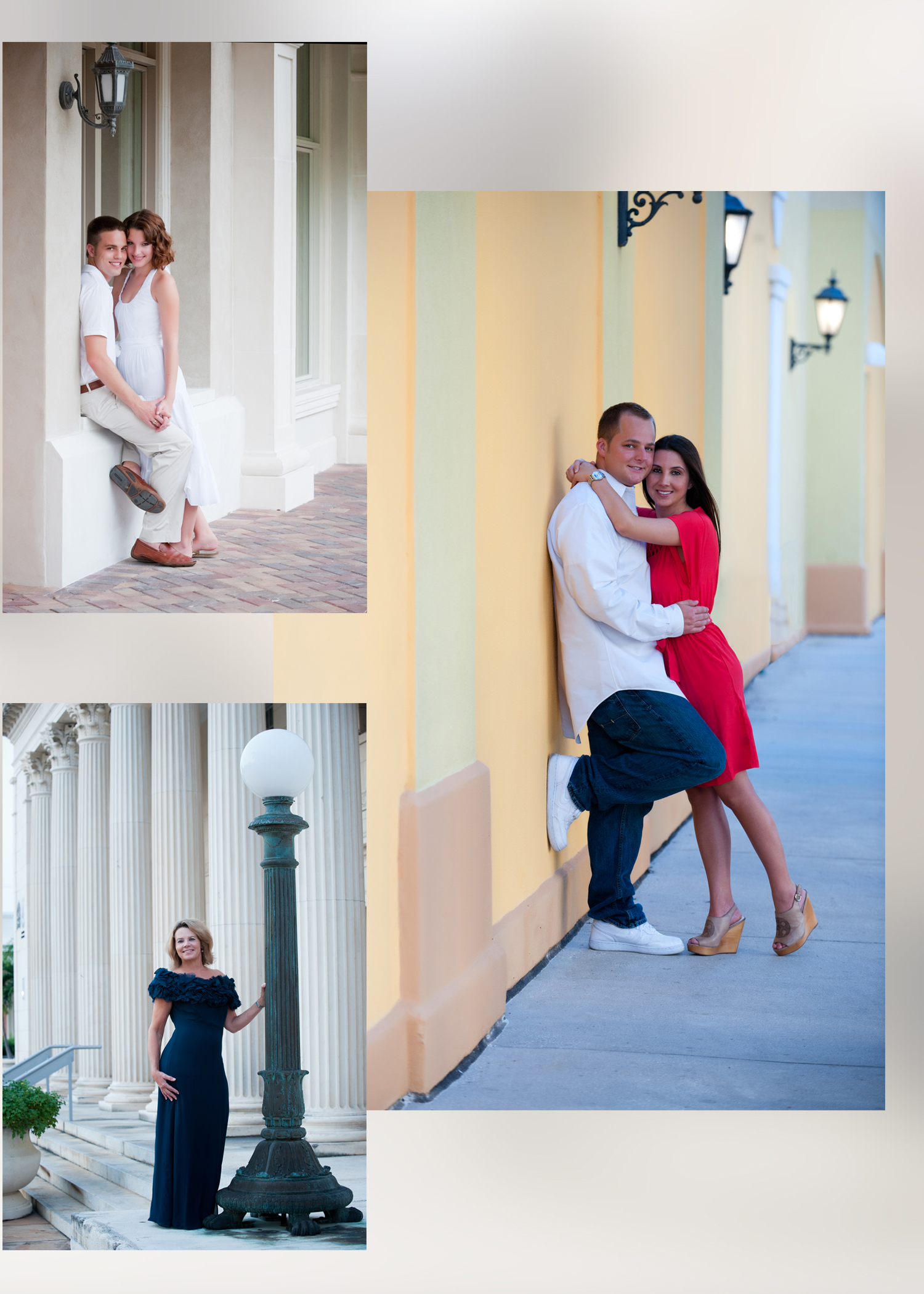 Family Portraits on location, downtown Sarasota, St. Petersburg Art Museum