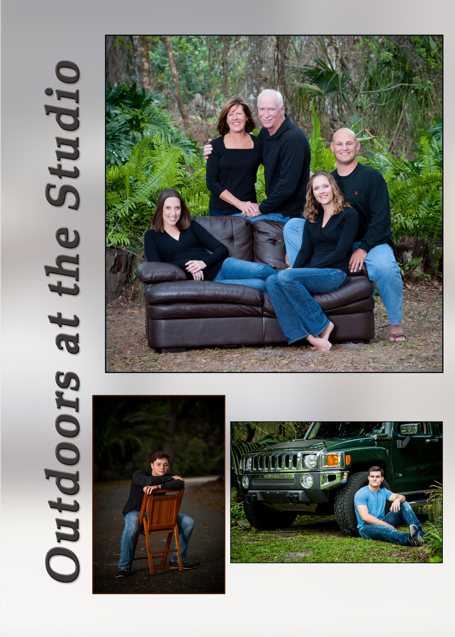 Family Portraits outdoors at our studio